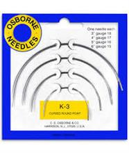 KIT OF CURVE ROUND POINT NEEDLES K3